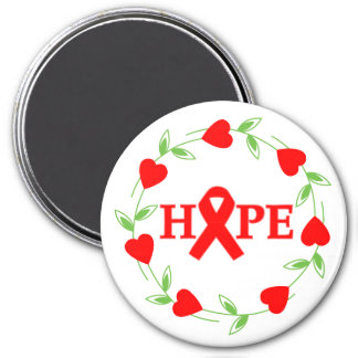 Stroke Disease Hearts of Hope 3 Inch Round Magnet