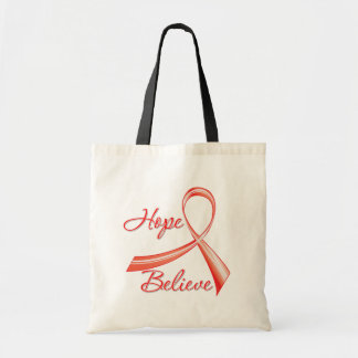 Stroke Disease - Hope Believe Canvas Bags