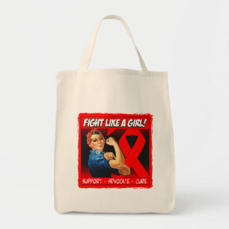 Stroke Disease Rosie Riveter - Fight Like a Girl Grocery Tote Bag