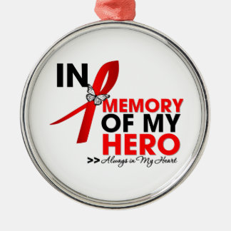 Stroke Disease Tribute In Memory of My Hero Metal Ornament