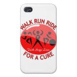 Stroke Disease Walk Run Ride For A Cure iPhone 4/4S Case