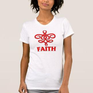 Stroke Faith Fleur de Lis Ribbon T Shirts