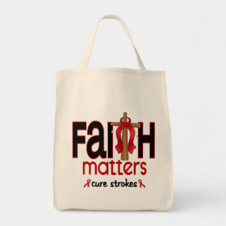 Stroke Faith Matters Cross 1 Tote Bag