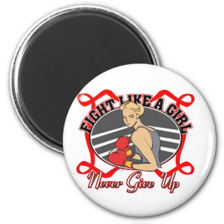 Stroke Fight Like A Girl Boxer 2 Inch Round Magnet