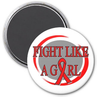 Stroke Fight Like A Girl Circular 3 Inch Round Magnet