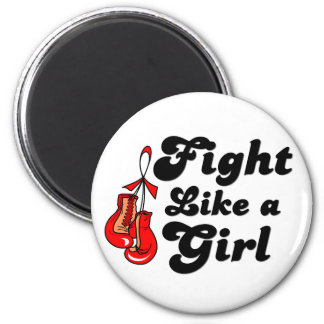 Stroke Fight Like A Girl Motto 2 Inch Round Magnet