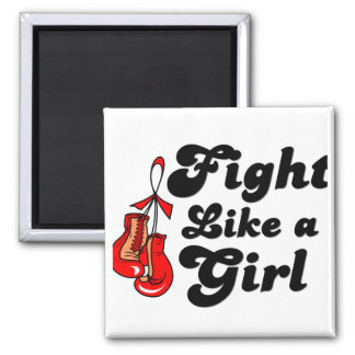 Stroke Fight Like A Girl Motto 2 Inch Square Magnet