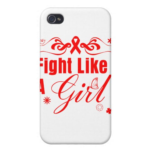 Stroke Fight Like A Girl Ornate iPhone 4 Cover