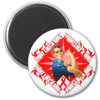 Stroke Fight Rosie The Riveter 2 Inch Round Magnet