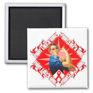 Stroke Fight Rosie The Riveter 2 Inch Square Magnet