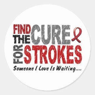 Stroke FIND THE CURE 1 Classic Round Sticker