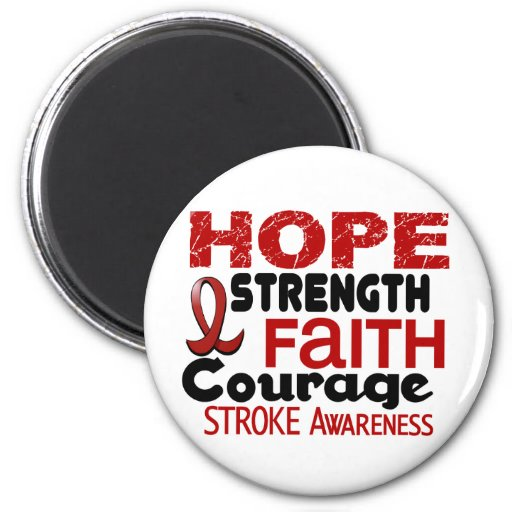 Stroke HOPE 3 2 Inch Round Magnet