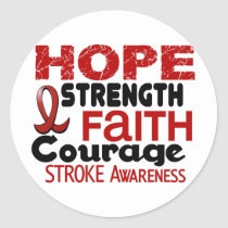 Stroke HOPE 3 Classic Round Sticker
