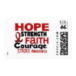 Stroke HOPE 3 Postage Stamps