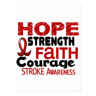Stroke HOPE 3 Postcard