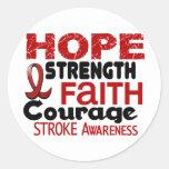 Stroke HOPE 3 Round Sticker