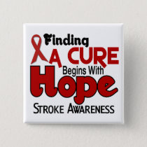 Stroke HOPE 5 Pinback Button