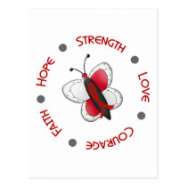 Stroke Hope Faith Courage BUTTERFLY SERIES 2 Postcard