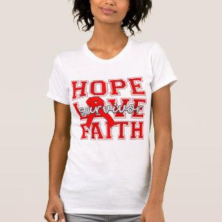Stroke Hope Love Faith Survivor Tee Shirts