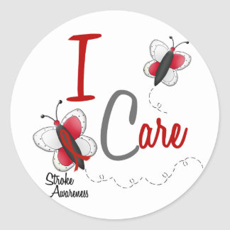 Stroke I Care BUTTERFLY SERIES 2 Classic Round Sticker
