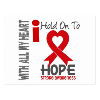 Stroke I Hold On To Hope Postcard