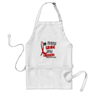 Stroke I WEAR RED FOR AWARENESS 37 Adult Apron