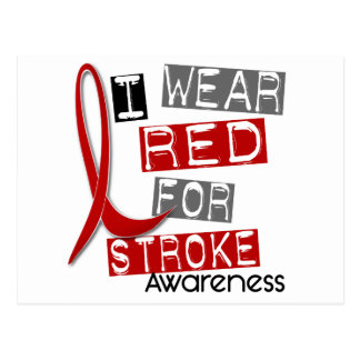 Stroke I WEAR RED FOR AWARENESS 37 Post Cards