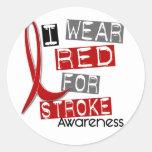 Stroke I WEAR RED FOR AWARENESS 37 Sticker
