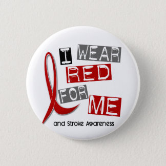 Stroke I WEAR RED FOR ME 37 Button