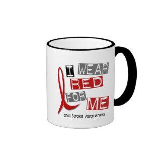 Stroke I WEAR RED FOR ME 37 Coffee Mugs