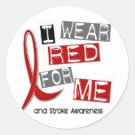 Stroke I WEAR RED FOR ME 37 Sticker