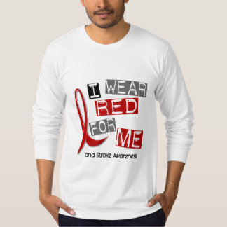 Stroke I WEAR RED FOR ME 37 T-Shirt