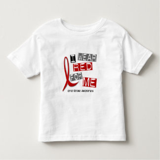 Stroke I WEAR RED FOR ME 37 Toddler T-shirt