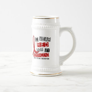 Stroke I WEAR RED FOR MY BOYFRIEND 45 Beer Stein