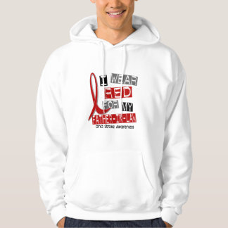 Stroke I WEAR RED FOR MY FATHER-IN-LAW 37 Hooded Pullover