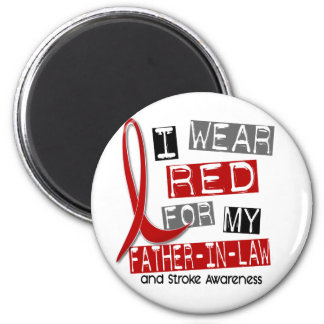Stroke I WEAR RED FOR MY FATHER-IN-LAW 37 Fridge Magnets