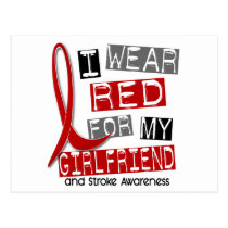 Stroke I WEAR RED FOR MY GIRLFRIEND 45 Postcard