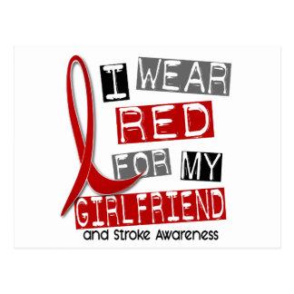 Stroke I WEAR RED FOR MY GIRLFRIEND 45 Postcard