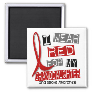 Stroke I WEAR RED FOR MY GRANDDAUGHTER 37 Magnets