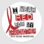 Stroke I WEAR RED FOR MY GRANDMOTHER 37 Sticker