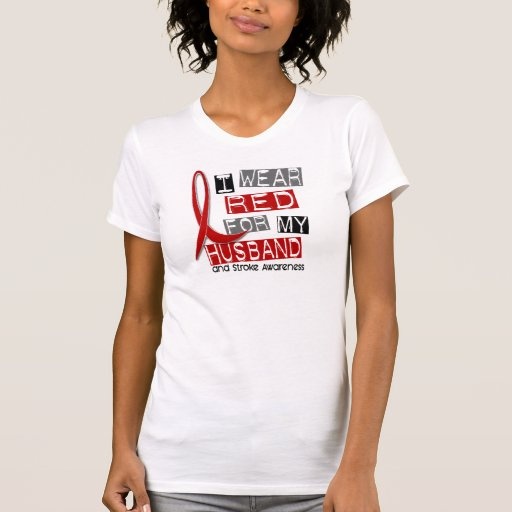 Stroke I WEAR RED FOR MY HUSBAND 37 T-Shirt