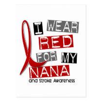Stroke I WEAR RED FOR MY NANA 37 Postcard