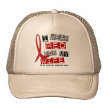 Stroke I WEAR RED FOR MY WIFE 37 Hat