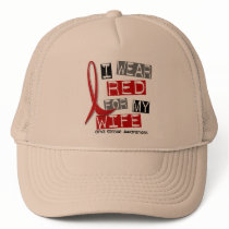 Stroke I WEAR RED FOR MY WIFE 37 Trucker Hat