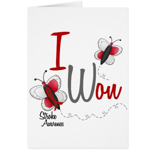 Stroke I Won BUTTERFLY SERIES 2 Greeting Card