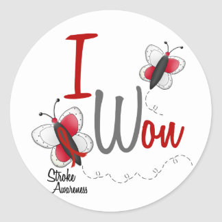 Stroke I Won BUTTERFLY SERIES 2 Classic Round Sticker