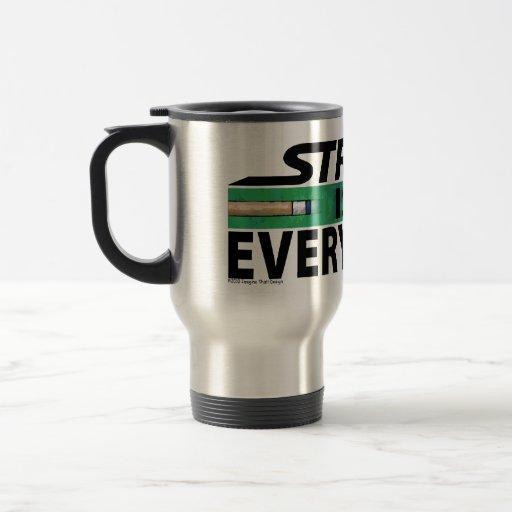 Stroke is Everything 8 Ball 15 Oz Stainless Steel Travel Mug