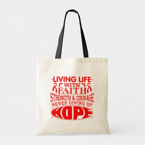 Stroke Living Life with Faith Tote Bags