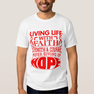 Stroke Living Life with Faith T-shirts