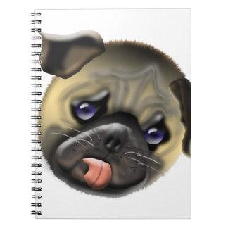 stroke my pug notebook